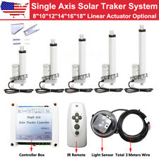 Us Electric Solar Panel Tracking Tracker Single Axis Complete Sunlight Track Kit