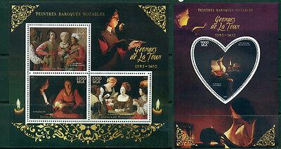 Objective Georges De La Tour Madagascar Mnh Ensemble 4val S/s Lustrous Baroque Art