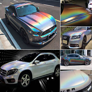 wrapping 3D Holographic Chrome Violet//Purple Rainbow Laser Chrome Effect Foil