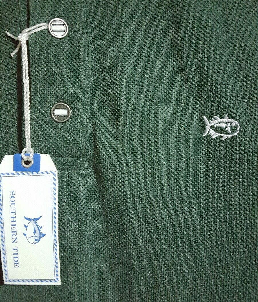 NEW Southern Tide L S Polo Outdoor Shirt Men's Small - Ivy Green