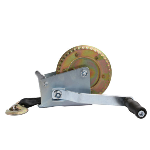 20FT Hand Winch Crank Strap Heavy Duty Winch 1200 LB Capacity ATV Rigging R0006