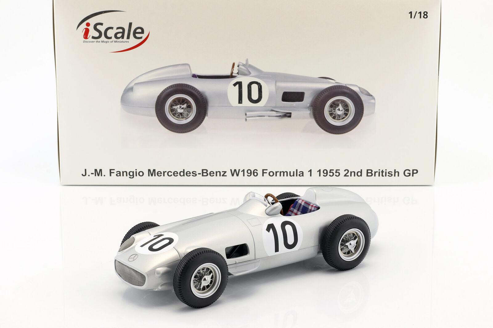 J.M. Fangio Mercedes-Benz W196  10 2nd British GP Welt Champion Formel 1 1955 1