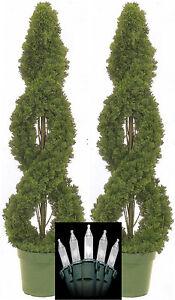2 spiral cedar outdoor topiary artificial tree 4 cypress pine image is loading 2 spiral cedar outdoor topiary artificial tree 4 aloadofball Choice Image