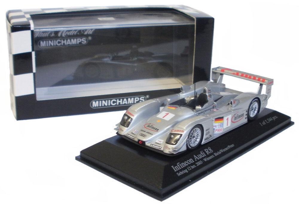 Minichamps infineon AUDI R8   1 Winner SEBRING 12hrs 2003 -, échelle 1 43,