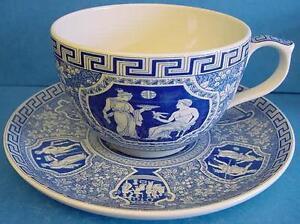 SPODE BLUE ROOM 20 FLUID OUNCE JUMBO CUP & SAUCER GREEK | eBay