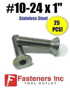 "Qty 25 10-24 x 1/"" Stainless Steel Socket Head Cap Screw Standard 18-8"