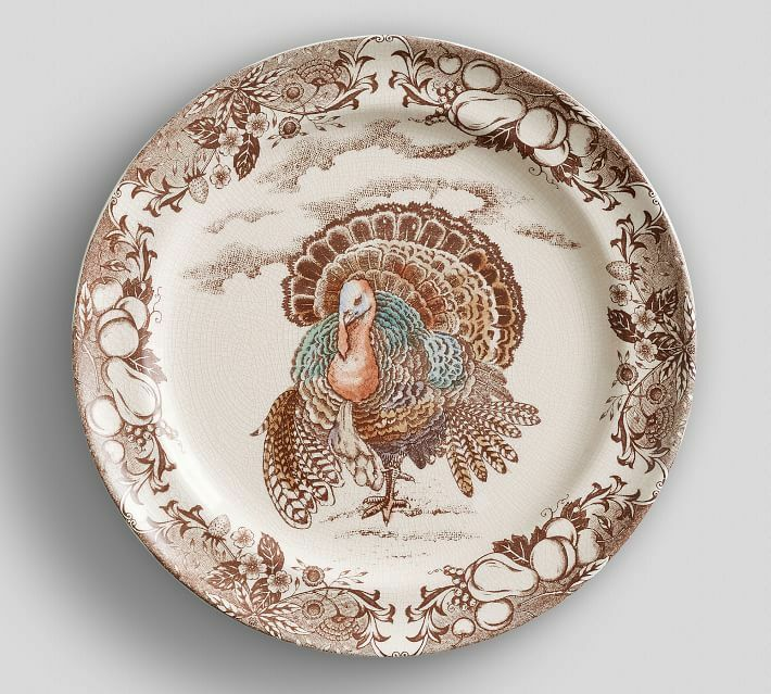 Pottery Barn traditionnel de la Turquie Assiettes-Lot de quatre - 2 ensembles Disponible-Neuf