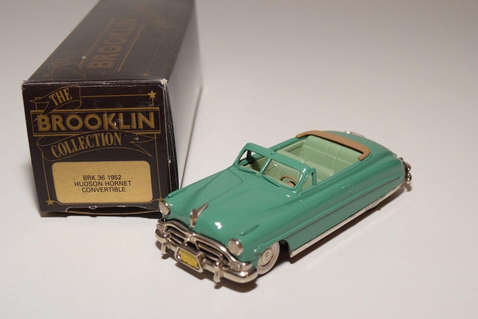 - brooklin brk - 36 hudson hornet cabrio 1952 grüner minze umzingelt