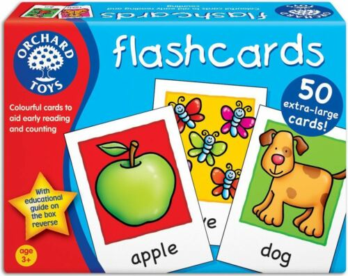 Orchard Toys FLASHCARDS Baby//Toddler//Child Counting Reading Game Education BN
