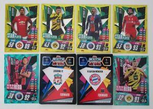 2020-21-Match-Attax-UEFA-Lot-of-50-cards-inc-Mbappe-Haaland-Neymar-Sancho-Salah