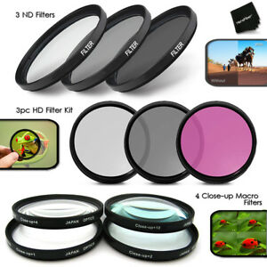 72mm - 10pc Filter KIT w/ 3 HD Filters + 3 ND Filters + 4 MACRO Filters f/ NIKON