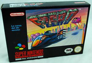 Jeu-F-ZERO-sur-Super-Nintendo-SNES-Neuf-carton-d-039-usine-version-PAL-NEW