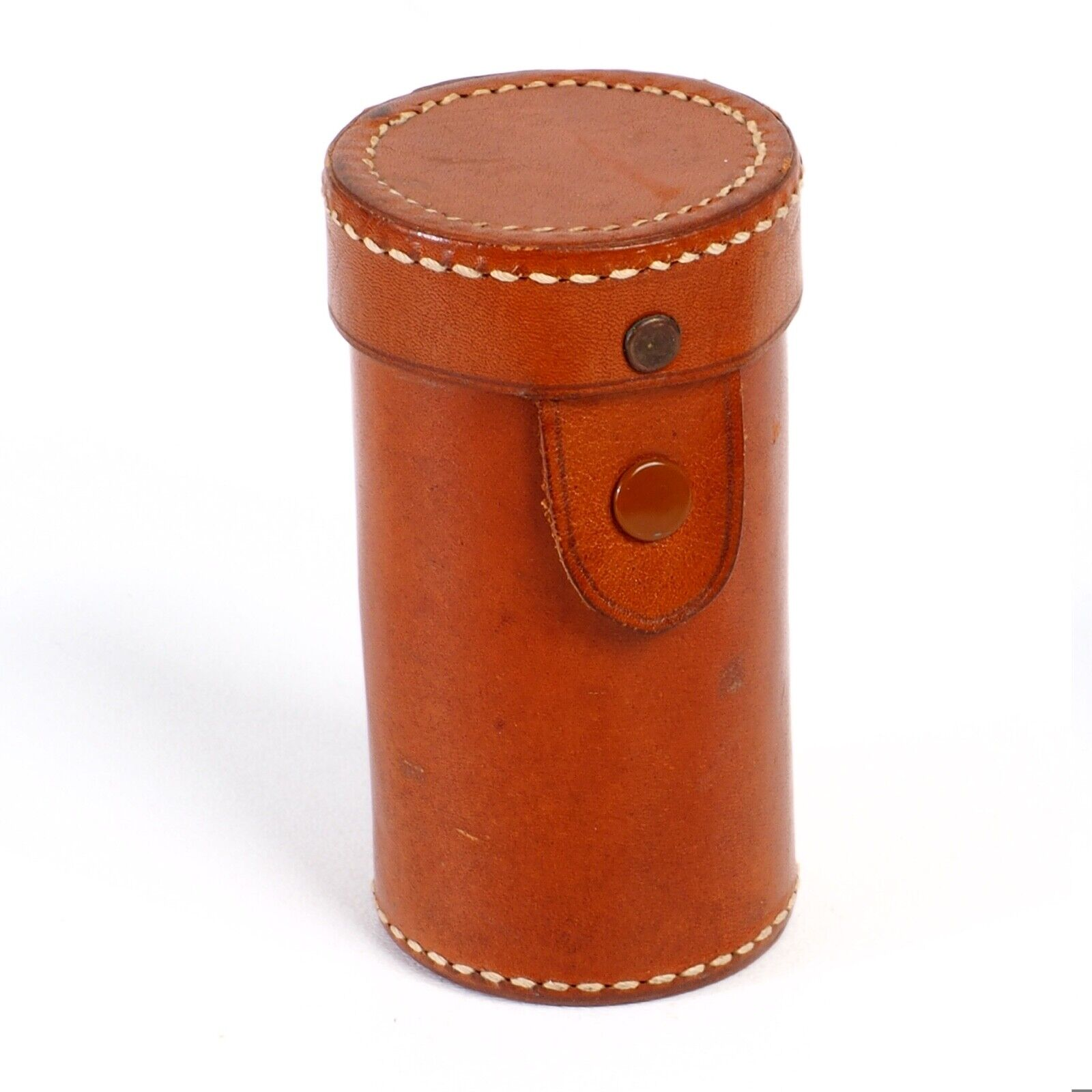 ^ Perrin No.10 Leather Stitched lens Case will Fit Leica Elmar 90 f4 Lens
