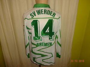 Werder-Bremen-Puma-Langarm-Matchworn-Meister-Trikot-1992-93-034-DBV-034-Nr-14-Gr-M