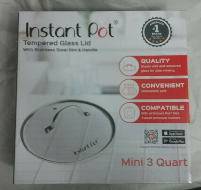 NEW Instant Pot Compatible Tempered Glass Stand Up Safety Lid 5//6 Qt Cool Handle