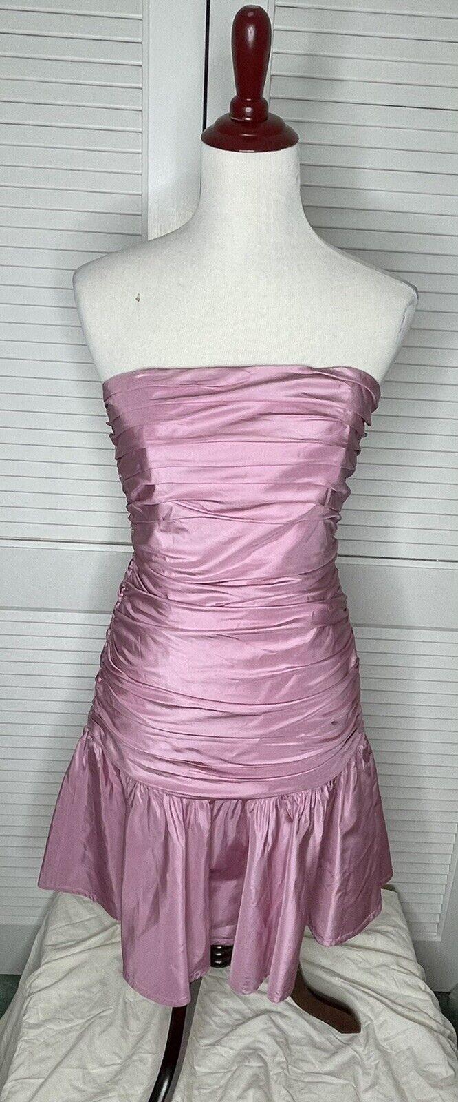 Betsey Johnson Evening Dress Size 8 Retro Lavende… - image 1