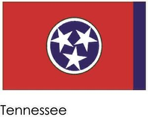 Tennessee State Flag 3039 by 5039 with grommets TG 19543 - Omaha, Nebraska, United States - Tennessee State Flag 3039 by 5039 with grommets TG 19543 - Omaha, Nebraska, United States