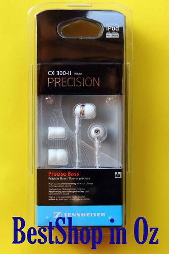 1 of 1 - Sennheiser CX 300-II Precision Earphones White New