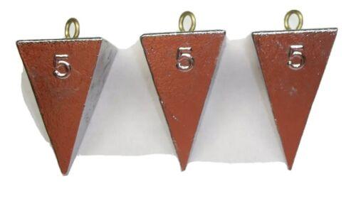 10-5oz Pyramid And 7-4oz Pryamid Sinker Combo 17 Sinkers Total