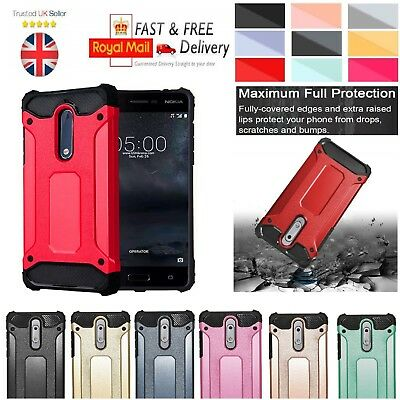 in stock 25dc1 f67bd Heavy Duty Hybrid Case For Nokia 1 2 3 5 7 8 6.1 Shockproof Rugged ...