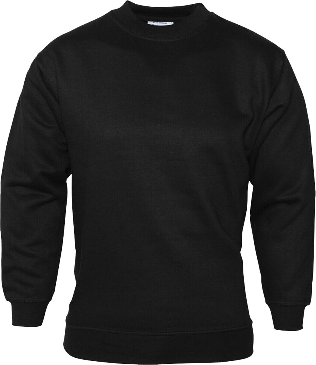Absolute Apparel Men Adults Neck Coverseam Polycotton Sterling Sweat Shirt