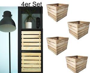 4er set einlage f r ikea kallax expedit regal aufbewahrungsbox holz 33x38x33cm ebay. Black Bedroom Furniture Sets. Home Design Ideas