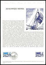 FRANCE CEF 1976 OLYMPIA MONREAL OLYMPICS SAILING SHIP MUSEE POSTAL z1833
