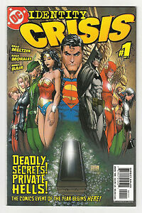 Identity-Crisis-1-NM-1st-Print-Michael-Turner-Cover-DC-Comics-Book-Aug-2004