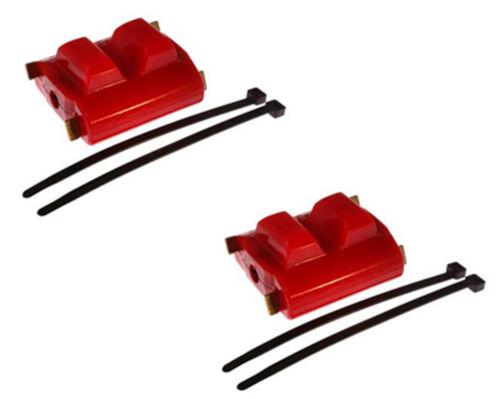82-92 350 305 TPI SBC Trans Am Polyurethane Engine Motor Mounts RED