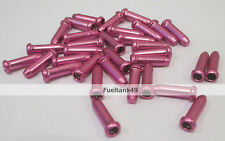 6 X Inner Gear/Brake Bike Cable Wire Ends/Crimps/Tidy/Ferrule/Cap/ Cover Pink