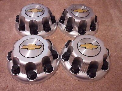 """CHEVY 8 Lug CHROME Center Cap For 16/"""" Steel Wheel Rim Bolt On Hub Skin Set of 4"""