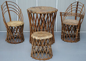 RARE MEXICAN EQUIPALE ANTIQUE NATIVE AMERICAN TRIBAL CHAIRS SIDE amp DINING TABLE - <span itemprop=availableAtOrFrom>Wimbledon, United Kingdom</span> - We do not offer a returns policy, all items are sold as seen and it is the responsibility of the buyer to view all pictures and ask any questions before you bid Most purchases from busi - Wimbledon, United Kingdom