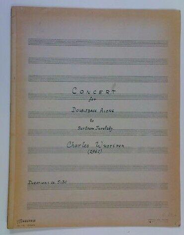 Ch wuorinen conciertos para contrabajo contrabajo contrabajo Solo   turetzky cf5129