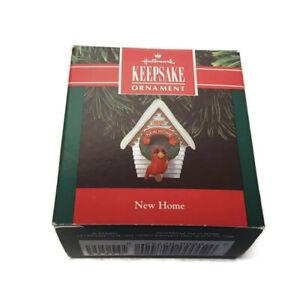 Hallmark-Keepsake-Christmas-Ornament-New-Home-1991-Cardinal-Red-Bird-House