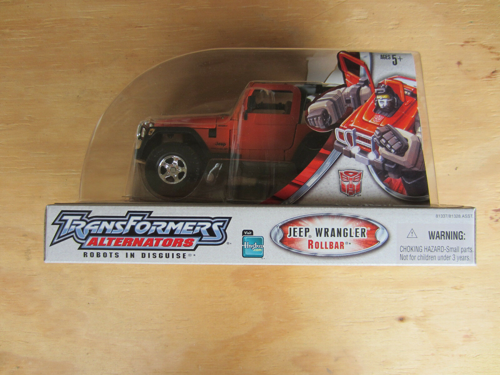 Transformers RID Alternators Jeep Wrangler Rollbar Vehicle to robot  2005 New