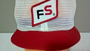 5a6082e5e Details about Vintage FS All Mesh Patch Snapback Trucker Style Agriculture  Hat K Brand