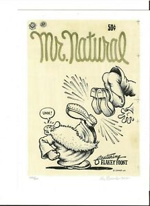 R-CRUMB-MR-NATURAL-SIGNED-AND-NUMBERED-ART-PRINT-2017-IMPORTED-FROM-ITALY