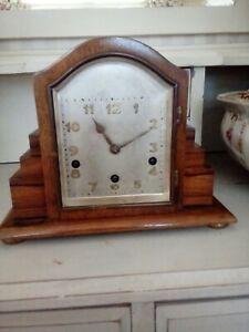 1930 s 8 Jour Horloge ART DECO ANTIQUE vintage original en ordre de marche