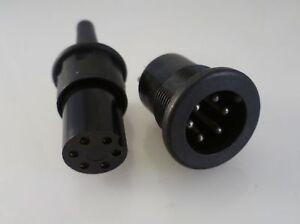 Bulgin-P635-and-P636-6-Pin-Plug-amp-Socket-Pair-PX0635-PX0636-OM0415b