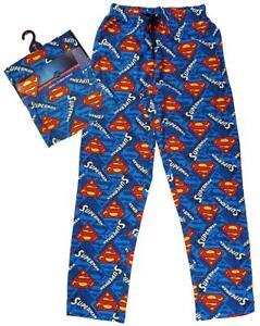 Homme-Officiel-Superman-S-logo-Lounge-Pants-Long-Pyjama-Pantalon-S-M-L-XL