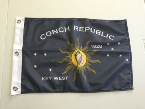 """Conch Republic Flag National Key West Banner Polyester 12/"""" x 18/""""  Country Flag23"""