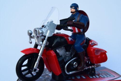 Captain America Figure /& MOTO-Music Sound /& Light-Bump N Go Action-Neuf