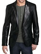 Best Offer - Men's Black Coat Blazer Jacket In Genuine Leather - All sizes