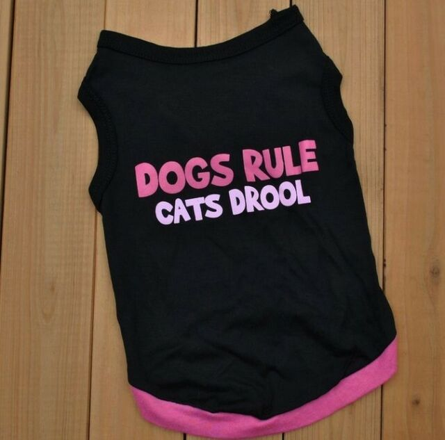 """"""" Dogs Rule """"Vest  New Summer Small Dog Cat Pet Clothes T Shirt Apparel Clothes"""