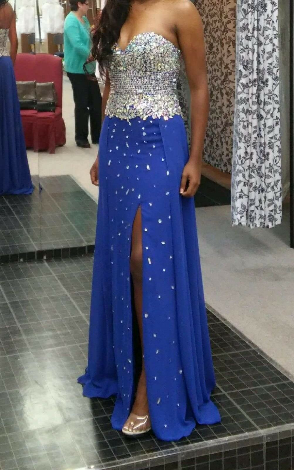 bluee Envious Couture Prom by Karishma Creations,  Size 2