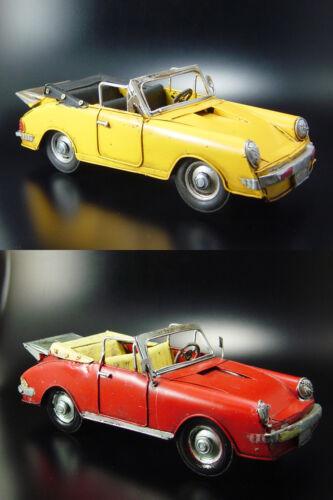Nostalgie Blechmodell Porsche Cabrio Metall Antiklook Oldtimer Retro neu Blechspielzeug