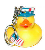 Cute Patriotic Rubber Duck Key Chain (kc050)