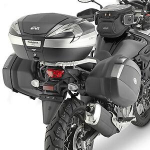 d939e297 Suzuki DL 650 V-Strom 2017 Givi PLX Pannier Rack and 2 x V35 Black ...