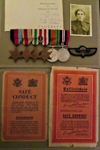 GREAT-BRITAIN-WW2-SPECIAL-AIR-SERVICE-S-A-S-MEDALS-amp-PERIOD-DOCUMENTS-GROUP