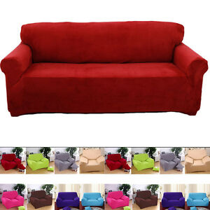 morden pure color removable stretch sofa couch slip cover
